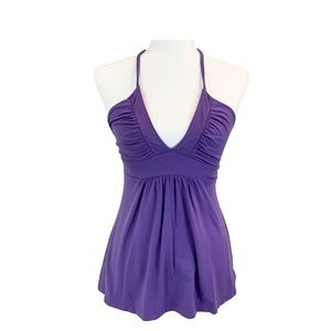 Susan Monaco Purple Halter Top